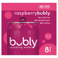 Bubly Raspberry Sparkling Water, 12 fl oz, 8 count