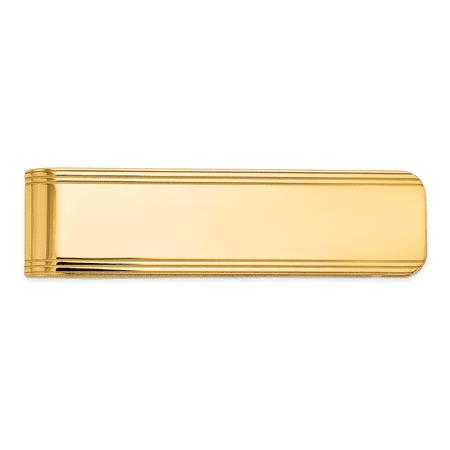 14kt Yellow Gold Money Clip Man Fine Jewelry Dad Mens Gift Set