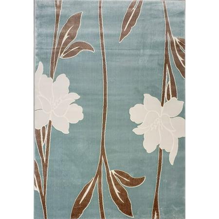 Ladole Rugs Grey Brown Teal Indoor Outdoor Area Rug Mat