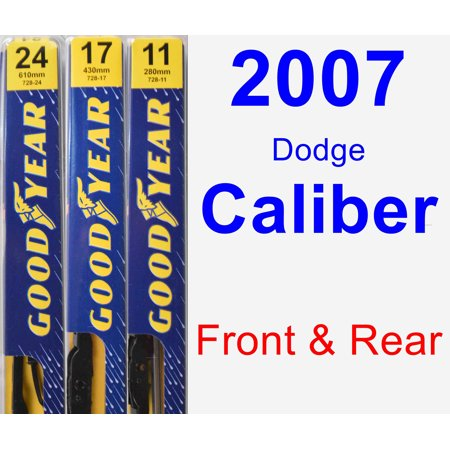 2007 Dodge Caliber Wiper Blade Set/Kit (Front & Rear) (3 Blades) - Premium