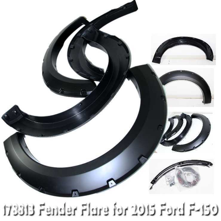 Matte Black Fender Flare Wheel Guard for 2015 Ford F-150