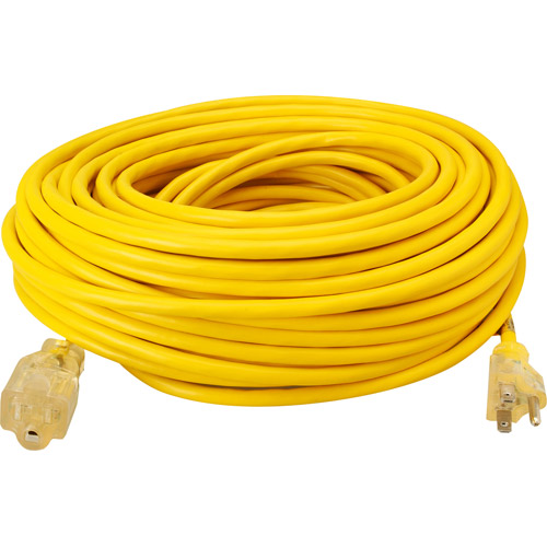 Coleman Cable 100' Yellow Jacket Lighted End Extension Cord
