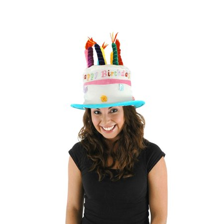 Happy Birthday Party Cake Adult Costume Hat One Size - Birthday Cake Costume For Adults