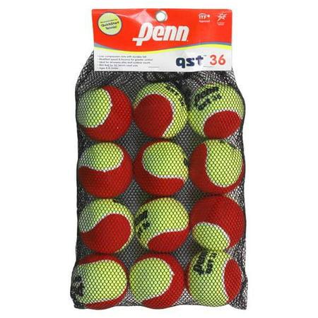 Penn Qst 36 Felt Tennis Balls 12 Count