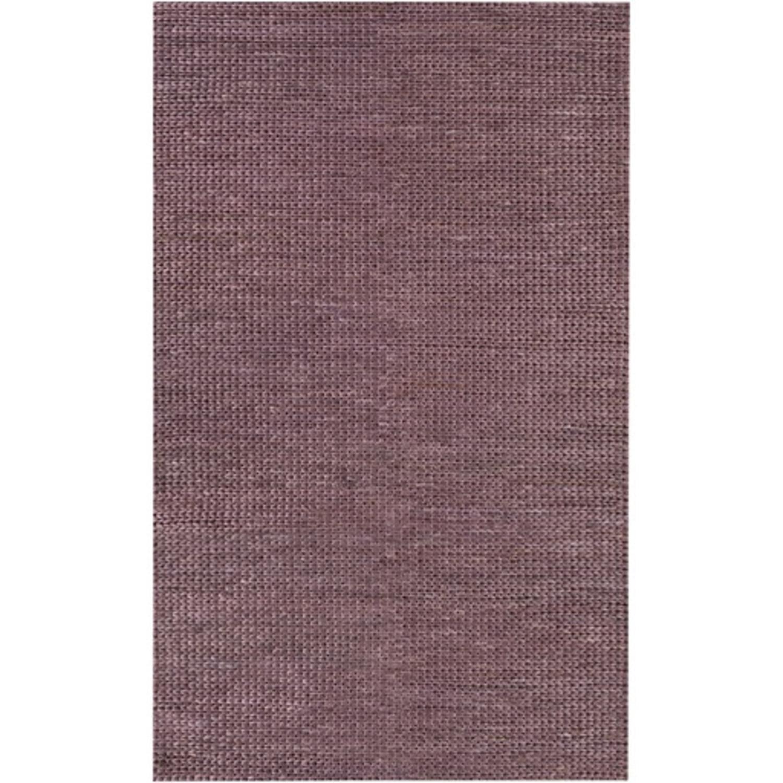2' x 3' Modern Essentials Mauve Purple Hand Woven Area Throw Rug