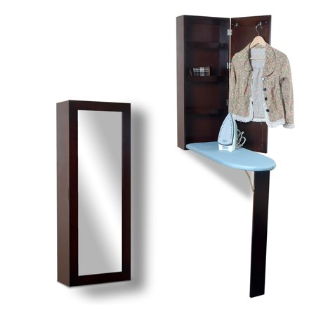 Awesome Organizedlife Ironing Board Cabinet Organizer With Storage And Mirror Hide Away Wall Mount Download Free Architecture Designs Scobabritishbridgeorg