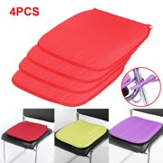 4PCS Chair Seat Pads Cushion Sit Mat With Tie For Dining Garden Office Park Various colors 37x37x1.5cm