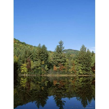 Lake Reflections, Near Jackson, New Hampshire, New England, USA Print Wall Art By Fraser Hall