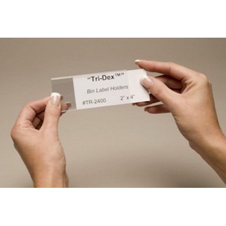 Clear Plastic Label Holder Cover (Tri-Dex TR-0813 Label Holder, 13/16