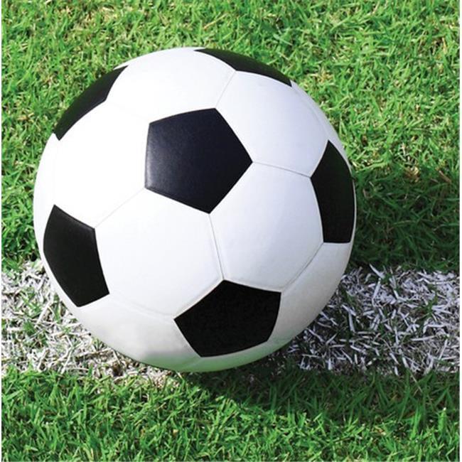 Creative Converting 657966 Sports Fanatic Soccer Beverage Napkins - Case of 216 657966