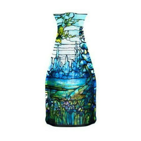 Modgy Myvaz Collapsible / Expandable Flower Vase - Tiffany Iris (Porcelain Flower Vase)