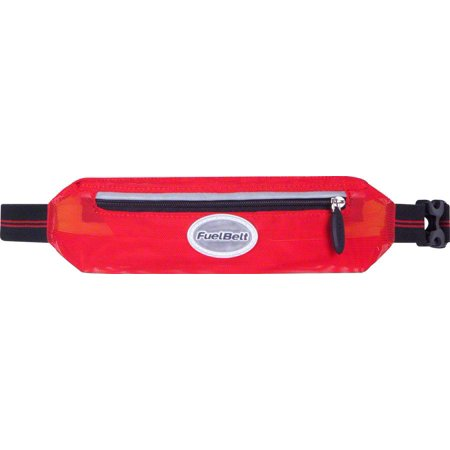 FuelBelt Helium Super-Stretch Waistpack: Black/Rush Red One Size - Helium Bottle