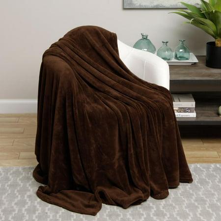 Ultra Plush Chocolate Brown Design Twin Size Microplush Blanket
