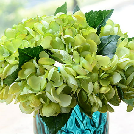Artificial flower fake flower single sea shell hydrangea flower arrangement small orange wine red wedding home decoration desktop decoration BL98 green