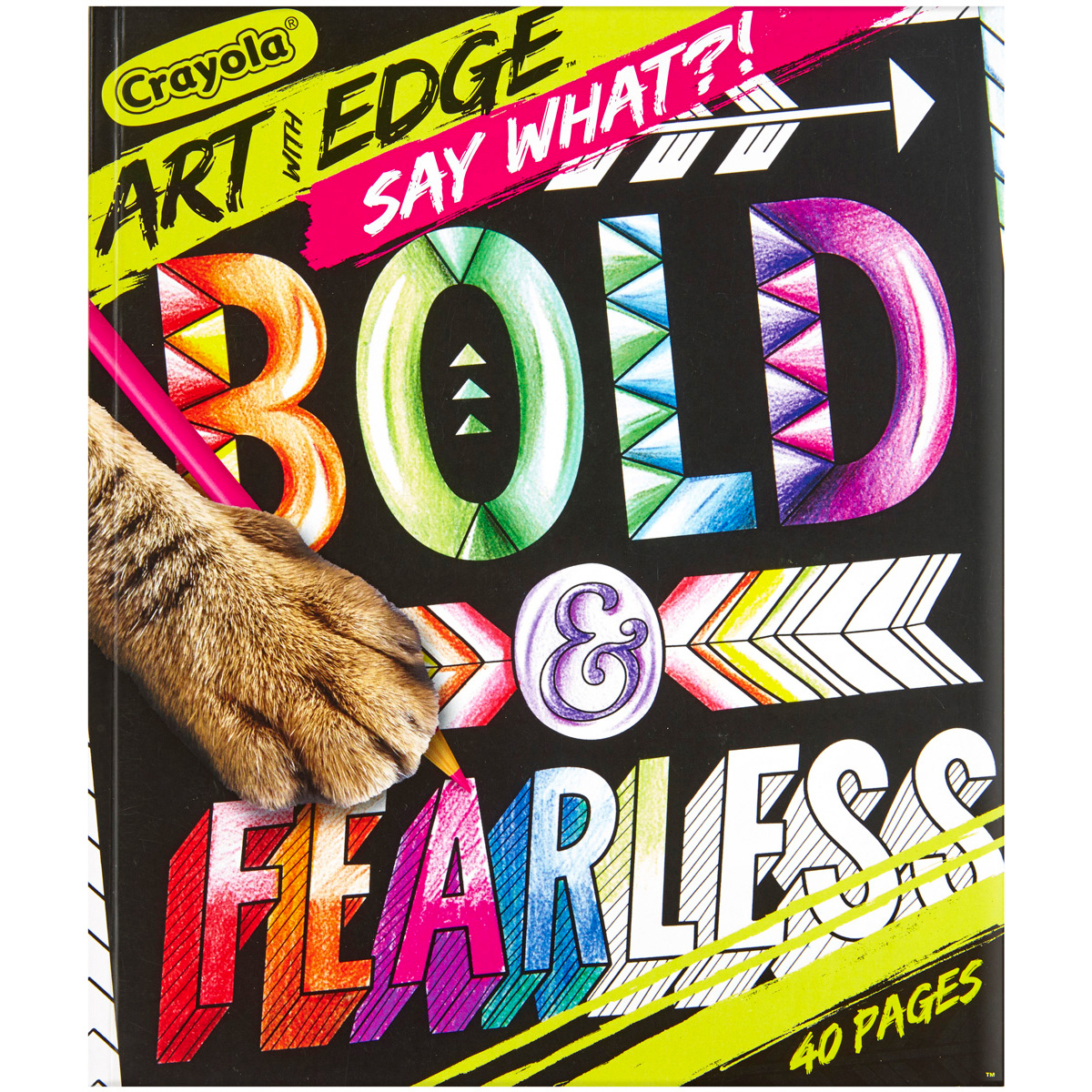 Crayola Art With Edge, Bold & Fearless,40 Premium Coloring Books by Generic