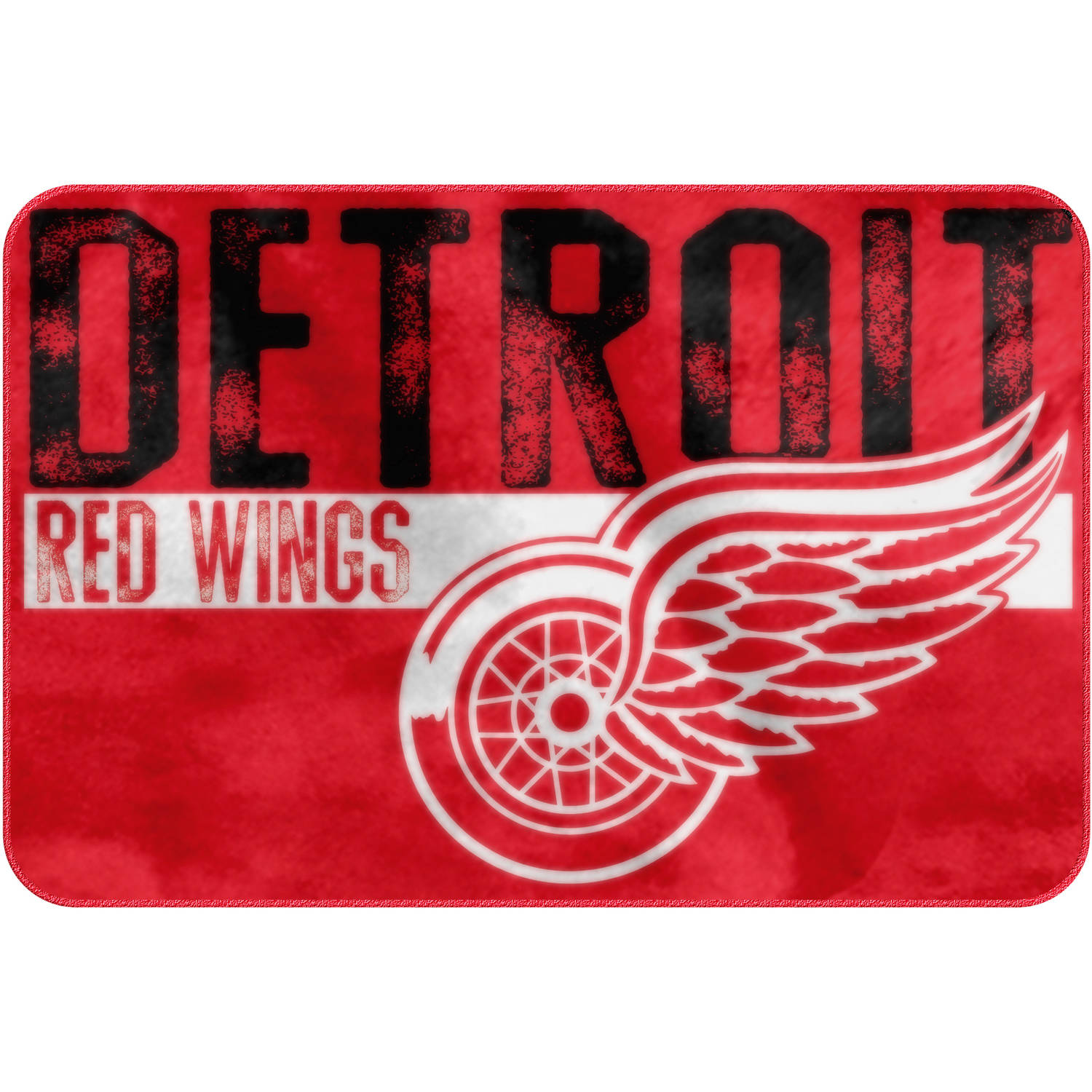 "NHL Detroit Red Wings ""Worn Out"" Bath Mat, 20"" x 30"""
