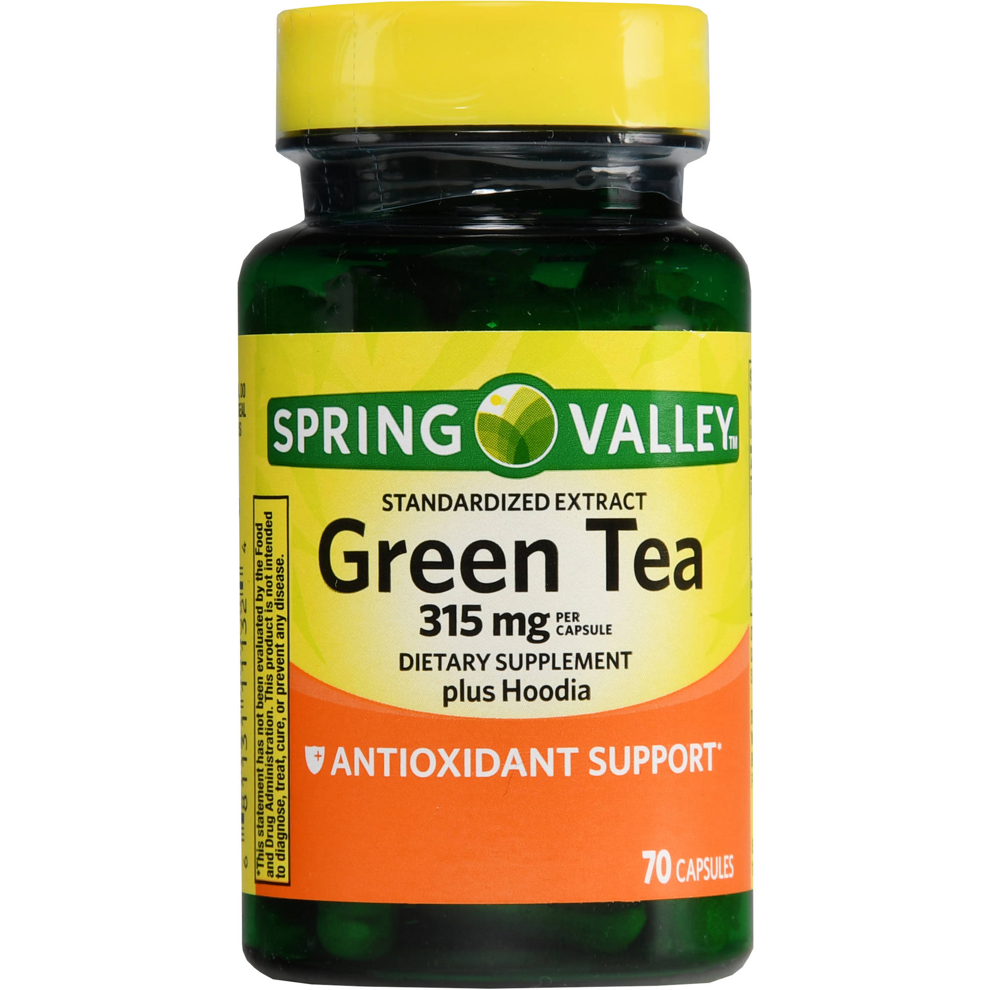 Spring Valley Green Tea plus Hoodia Dietary Supplement Capsules, 315 mg, 70 count
