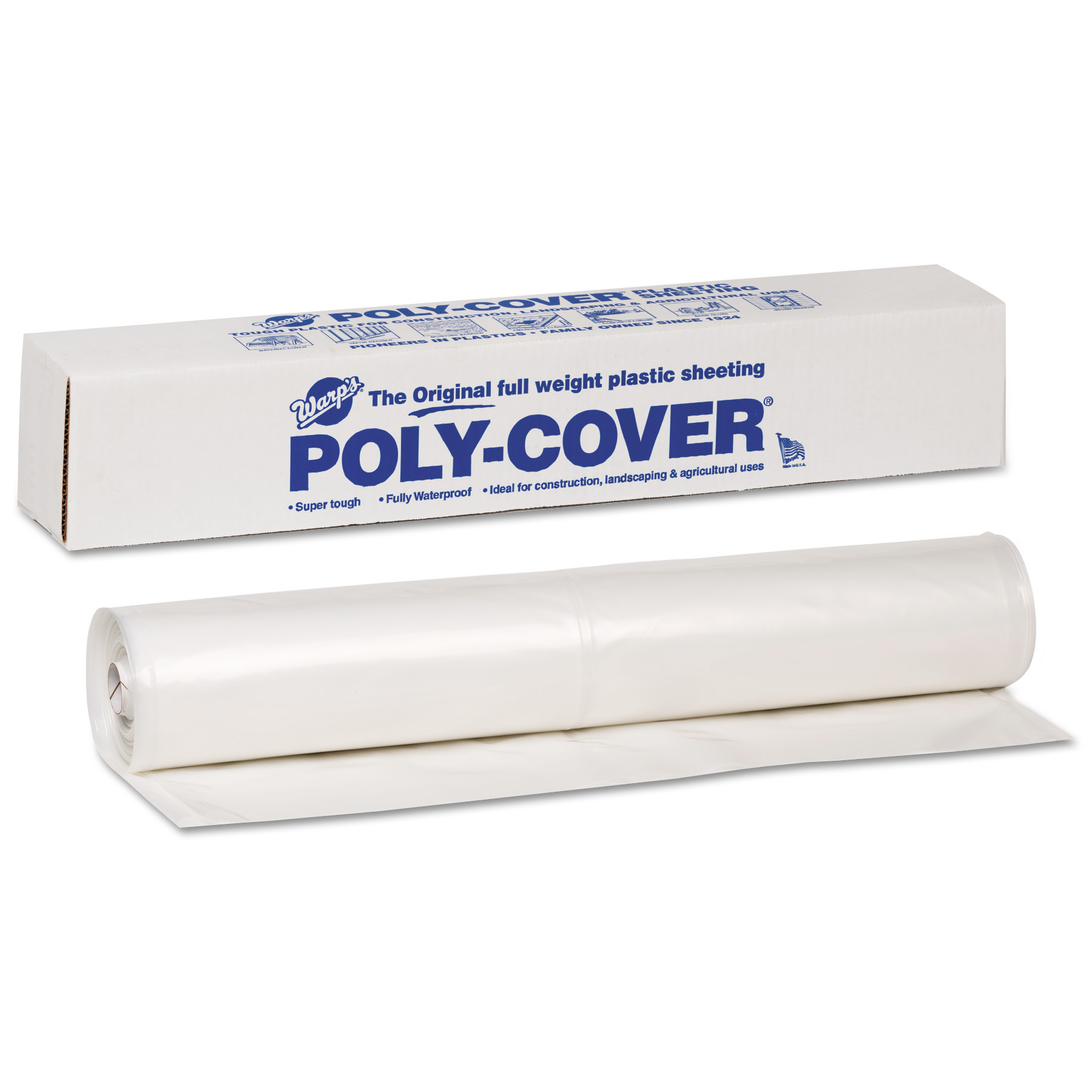 Warp Brothers Poly-Cover Plastic Sheets, 6 Mil, 10 x 100, Clear