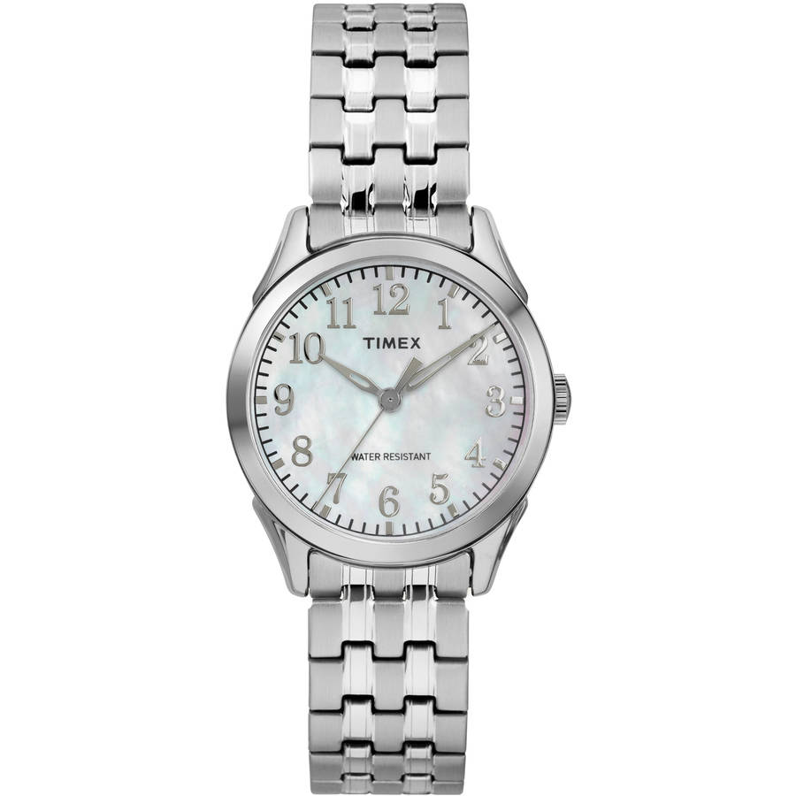Women's Briarwood Silver-Tone/MOP Watch, Stainless Steel Expansion Band
