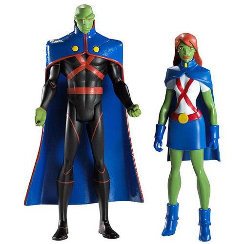 Martian Manhunter & Miss Martian Action Figures Aliens Mindreaders