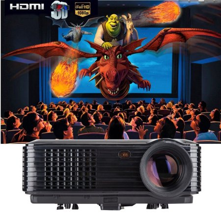 VS-320 HD 1080P LED LCD Home Cinema Multimedia Projector with AV TV VGA USB HDMI Input