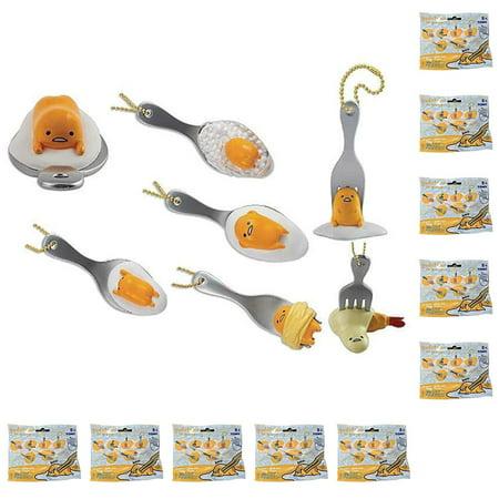 Gudetama The Lazy Egg Dangler LOT of 10 Sealed Series 2 Bags