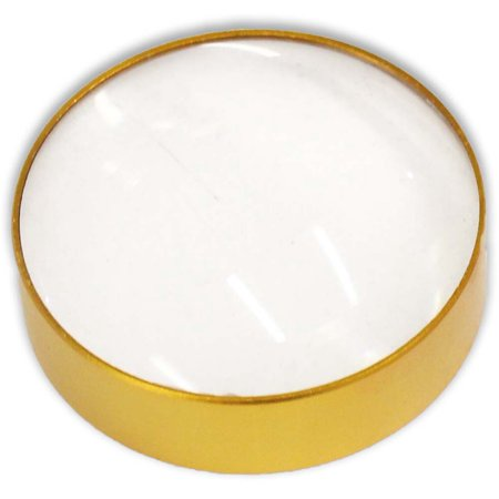 Clear Acrylic Paperweight - 5x Dome Style Paperweight Golden Glass Magnifier (Maximize: MG-99603)