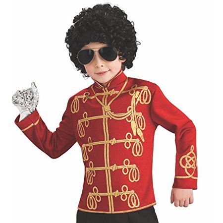 Michael Jackson Child's Value Military Jacket Costume Accessory, Large, Red - Michael Jackson Kid Costumes