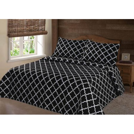 PERSIAN EYGYPTION COLLECTION KING   LANCASTER GEOMETRIC BLACK WHITE CLOSOUT QUILT BEDDING BEDSPREAD COVERLET PILLOW CASES (Black And White Quilt Patterns For Beginners)