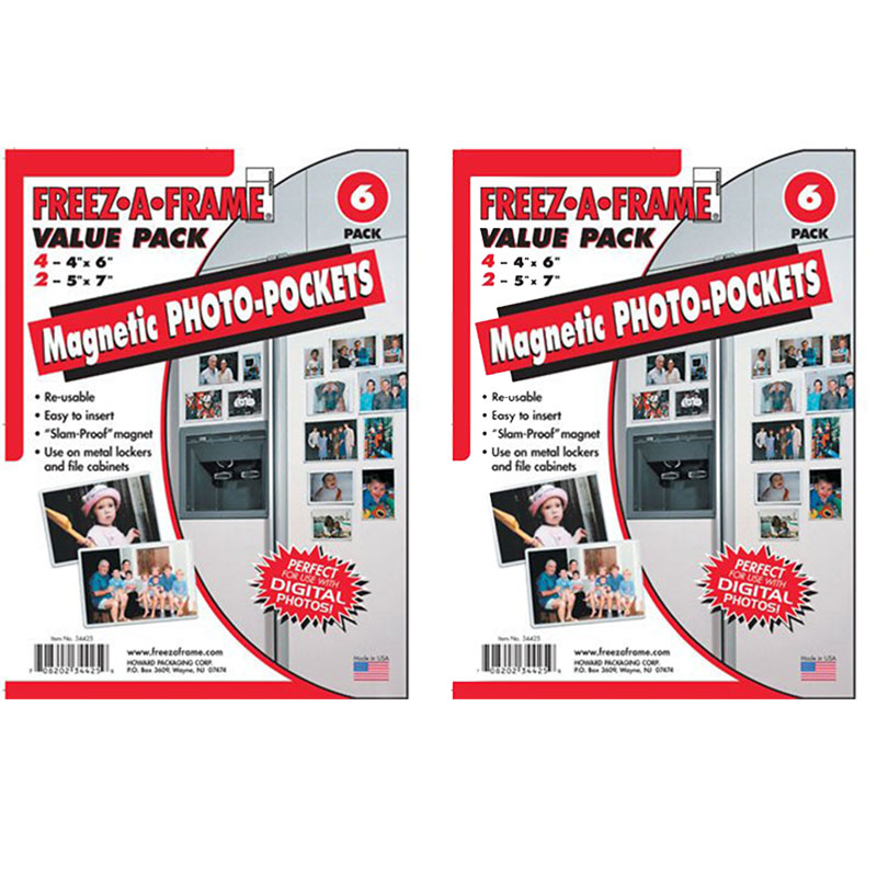 Freez A Frame Magnetic Photo Frames 12 Pack Includes 8 4x 6 4 5