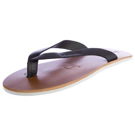 Raw Correct Line (G-STAR Raw Women's Correct Line Flip Flops Sandals GS83100/000 Size 5 Black )