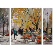 "Trademark Fine Art ""Farm Market Menasha"" Canvas Art by Ryan Radke Three Panel Set"