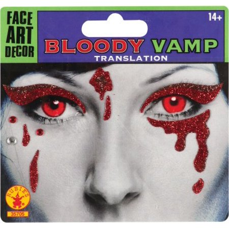 Bloody Face (Bloody Vamp Face Tattoo)