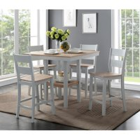 York Wirebrushed 5 Piece Counterstyle Dining Set
