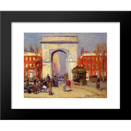 Washington Square Park (Washington Square Park 20x24 Framed Art Print by William James)