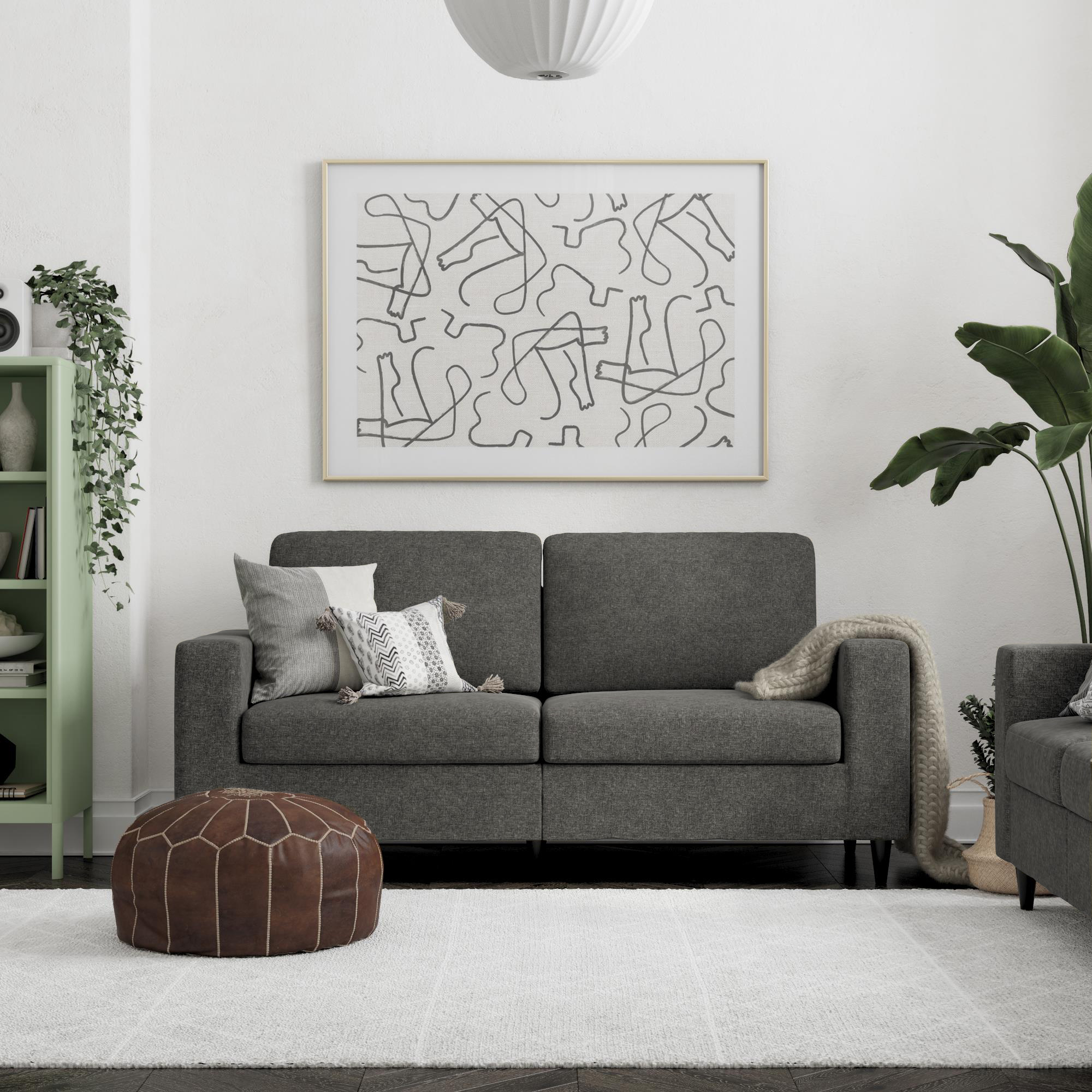 DHP Cooper Sofa, Gray Linen - Walmart.com - Walmart.com