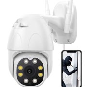 Security Camera Outdoor, 1080P HD PTZ Outdoor Camera WiFi for Home Security Surveillance, Floodlight, Night Vision, Motion Detection, 2-Way Audio Waterproof