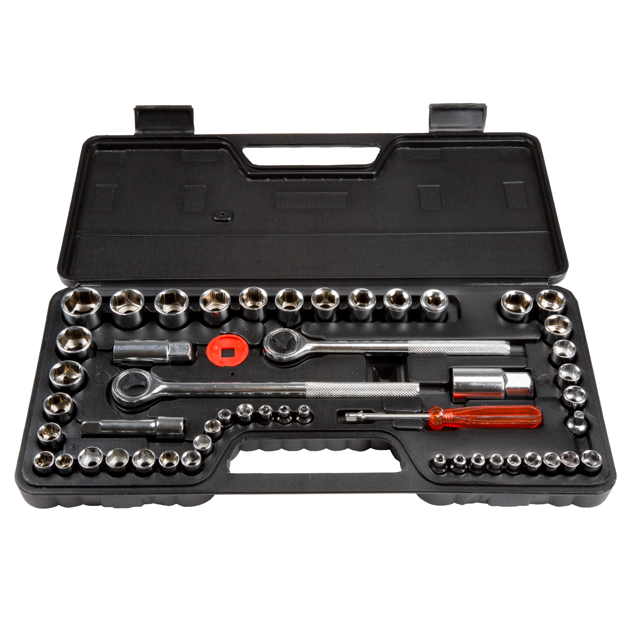 52 Piece 1/4, 3/8 and 1/2 Drive Socket Set SAE and Metric by Stalwart