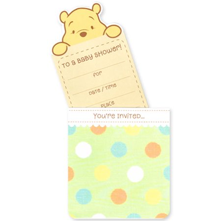Winnie The Pooh Baby Shower Invitations W Envelopes 10ct
