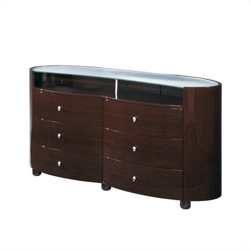 Global Furniture Emily Evelyn Dresser In Wenge Walmart Com