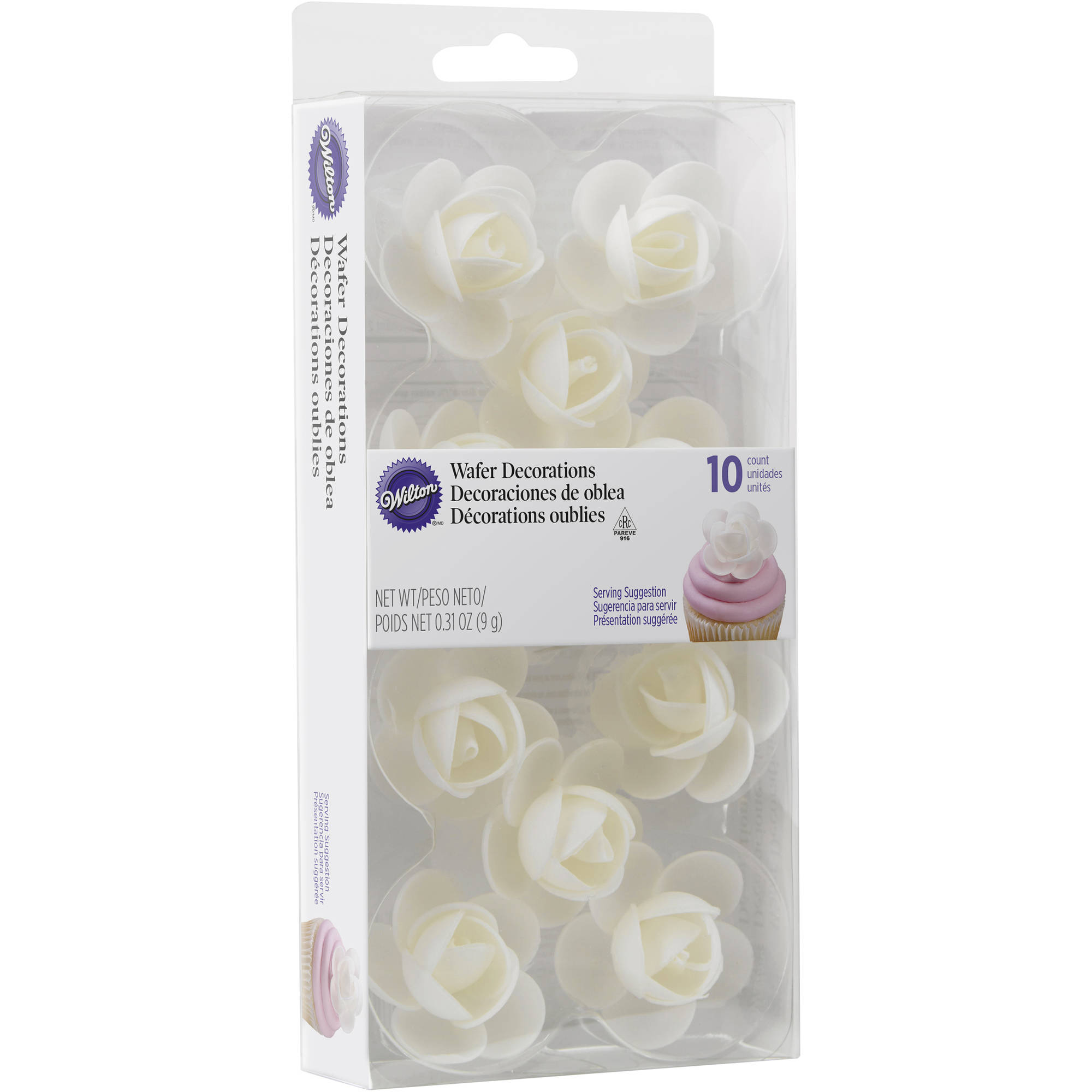 Wilton Rose Edible Wafer Paper Decorations, 10-Count - Walmart.com