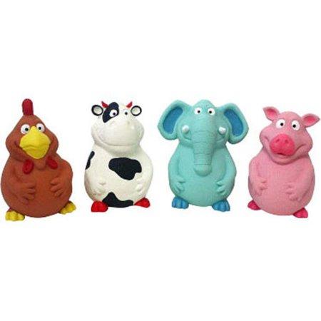Multipet International 61245 Pot Belly Latex Buddies Toy, Assorted -