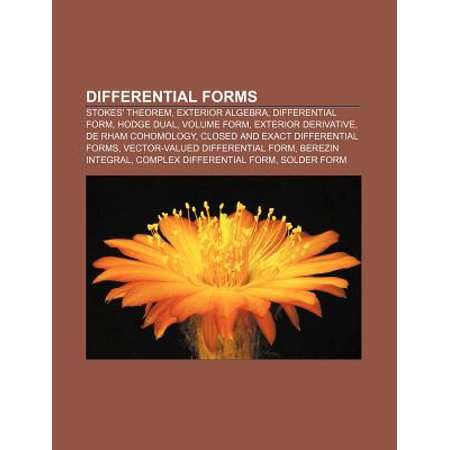Differential Forms Stokes 39 Theorem Exterior Algebra Differential Form Hodge Dual Volume