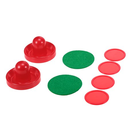 1 Set Air Hockey 76mm / 96mm Mallet Pusher Puck Felt Slider Pusher Table Games Replacement Accessories Goalies ()