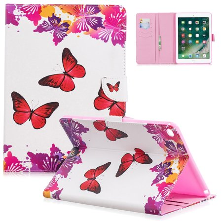 Allytech Case for Apple iPad Air 2 - PU Leather Stand Wallet Case Smart Covers with Auto Sleep/Wake Function & Card Slots for Apple iPad Air 2 9.7