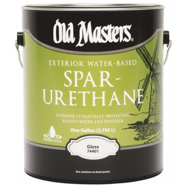 Old Masters 74401 1 Gallon Gloss Water-Based Spar Urethane - Pack of 2