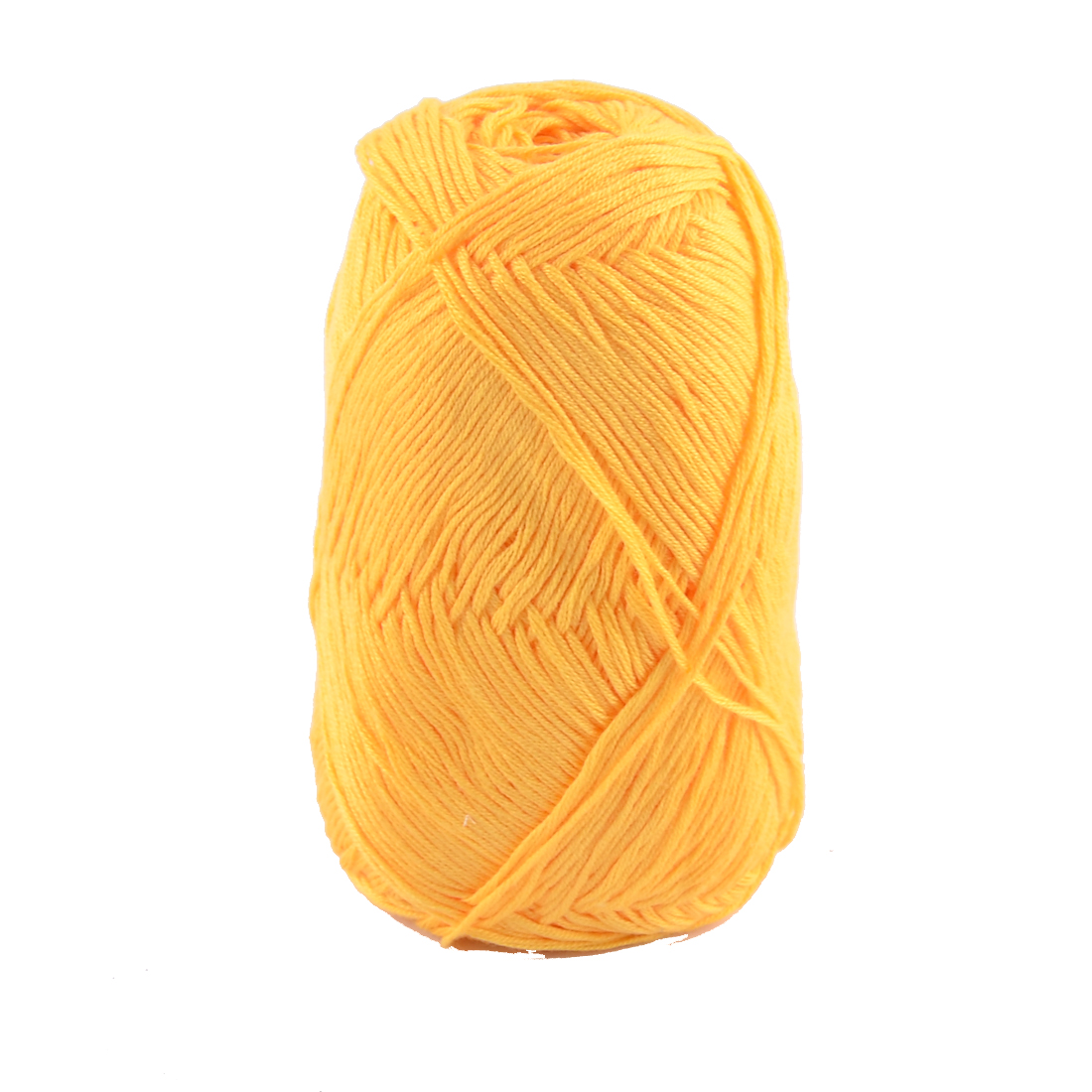 Cotton Hand DIY Knitting Clothes Hat Sweater Crochet Thread 50 Gram Yellow
