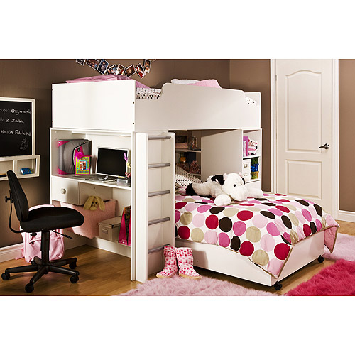 South Shore Logik Twin Loft Bed, White