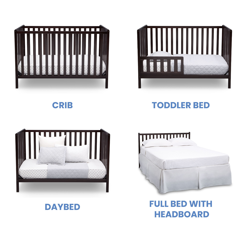 Delta Children Heartland 4 In 1 Convertible Crib Bianca White Walmart Com Walmart Com