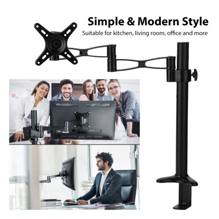 Rotatable Lcd - Yosoo Mount Holder,10-27inch TV Adjustable Computer LCD Screen Monitor Mount Stand Holder Rack 360° Rotatable TV Holder